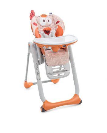 Pomarańczowe krzeselko dzieciece do karmienia polly2start