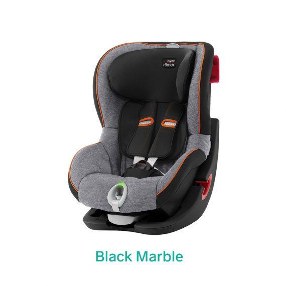 Black Marble czarny fotelik Romer King II LS