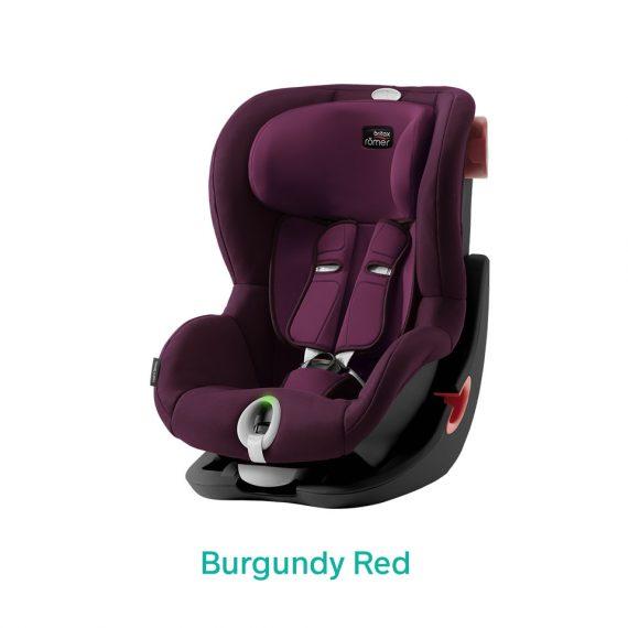 Burgundy Red wiśniowy fotelik Romer King II LS