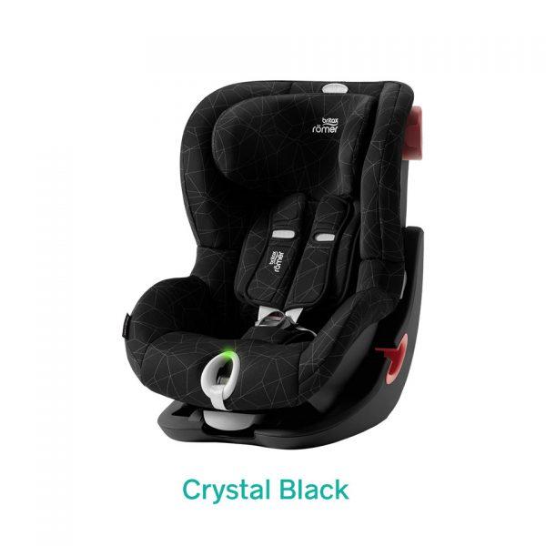 Crystal Black czarny fotelik Romer King II LS
