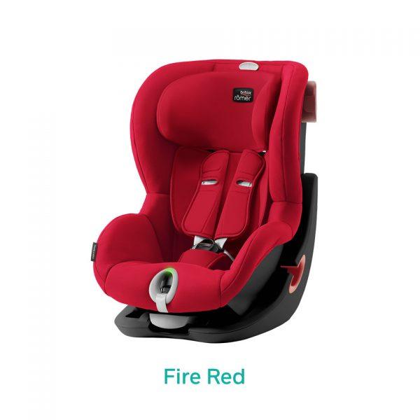 Fire Red czerwony fotelik Romer King II LS