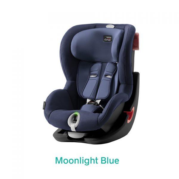 Moonlight Blue niebieski fotelik Romer King II LS