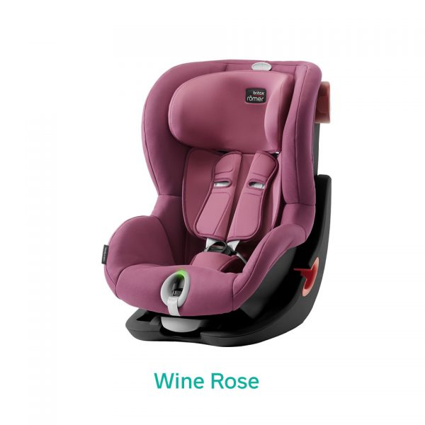 Wine Rose różowy fotelik Romer King II LS
