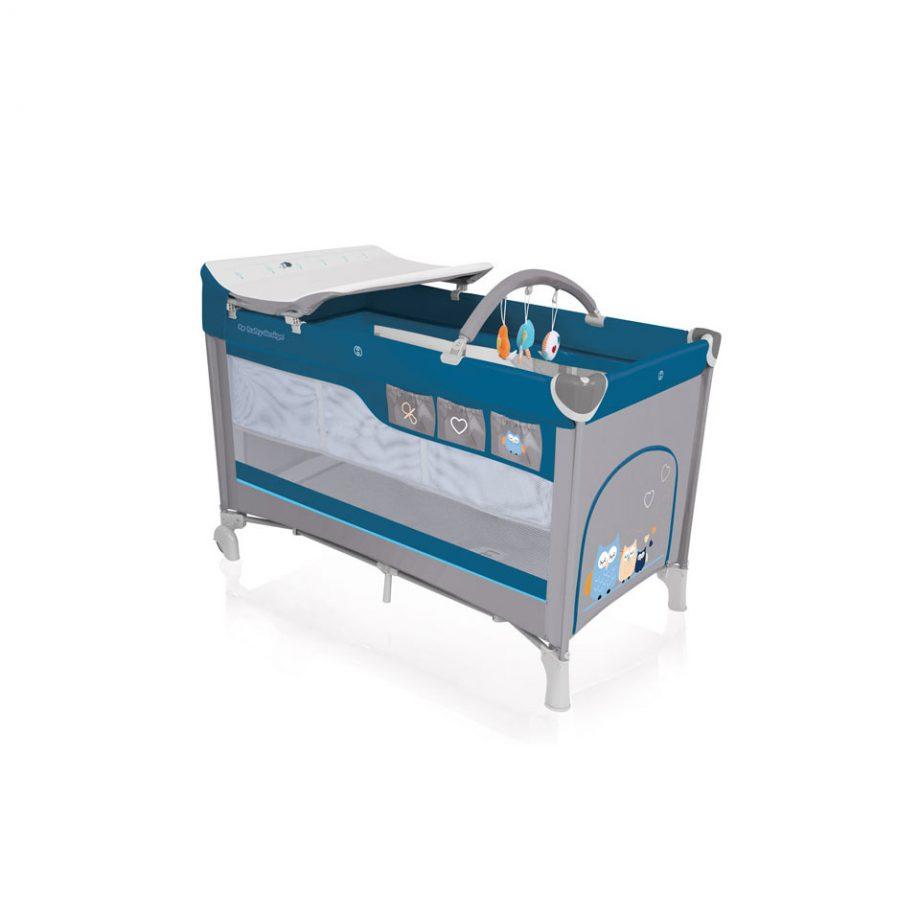niebieskie lozeczko turystyczne baby design dream