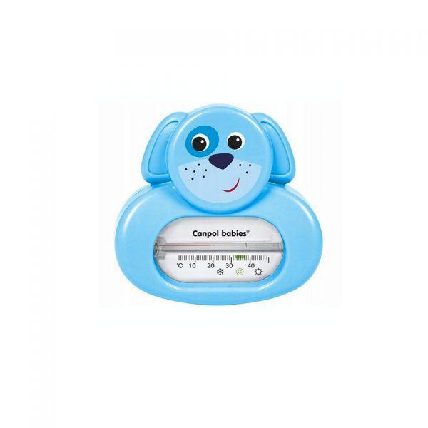 niebieski termometr piesek do wanienki