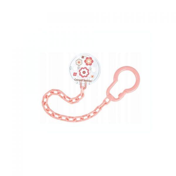 różowy łańcuszek do smoczka