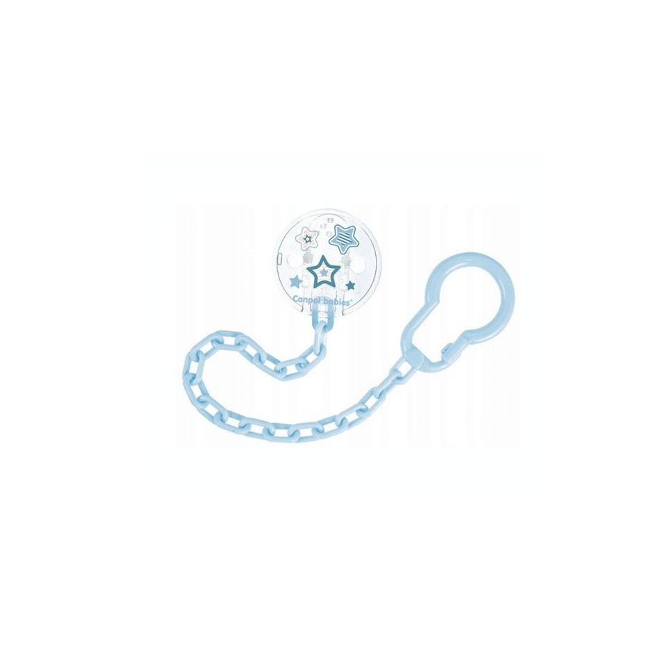 niebieski łańcuszek do smoczka