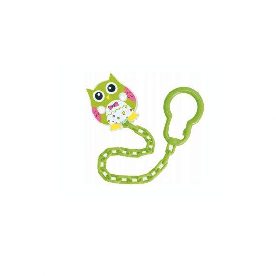 zielony łańcuszek do smoczka